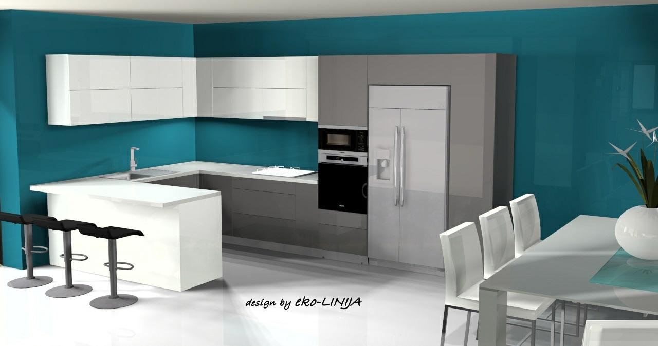Kuhinja po mjeri Kuhinja Amalie Acryl visoki sjaj bijeli i Acryl